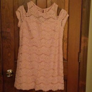 Stretch lace mini dress/tunic